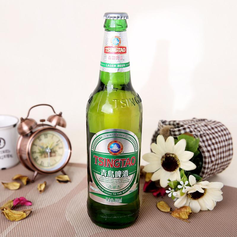 青岛银标啤酒500ml/瓶