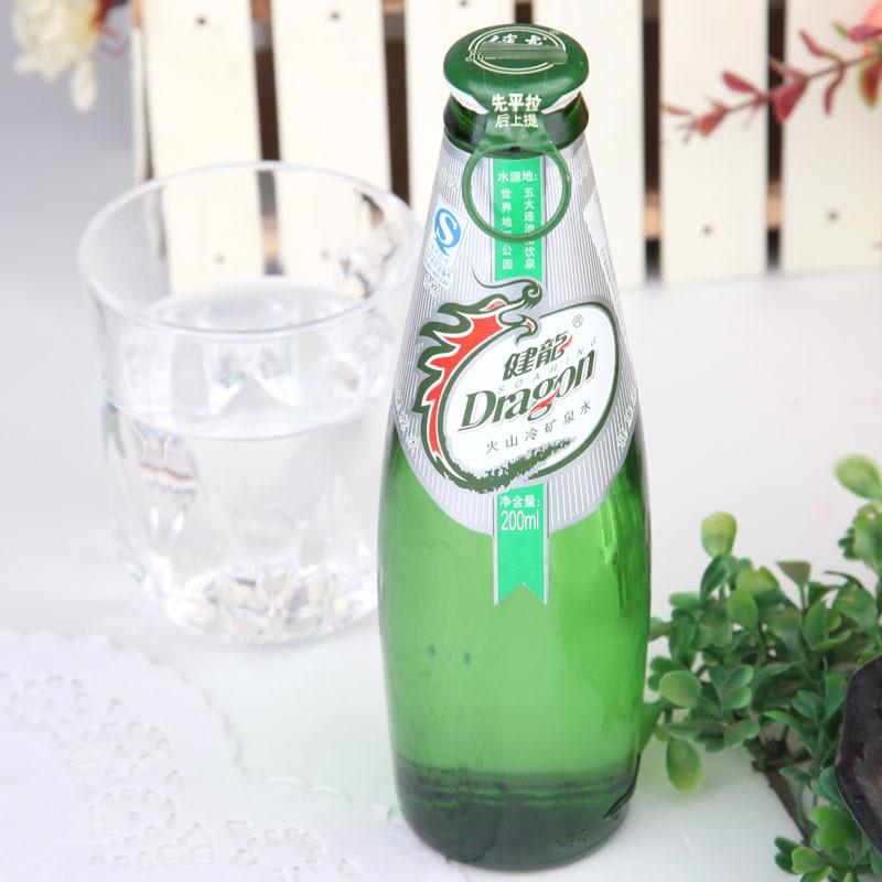 健龙矿泉水(绿玻璃瓶拉盖) 200ml/瓶