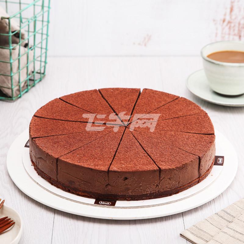 宾迪巧克力慕斯蛋糕(圆形预切)1400g/盒