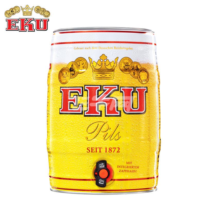 德国进口 怡恺悠/ eku 皮尔森啤酒 5l/桶