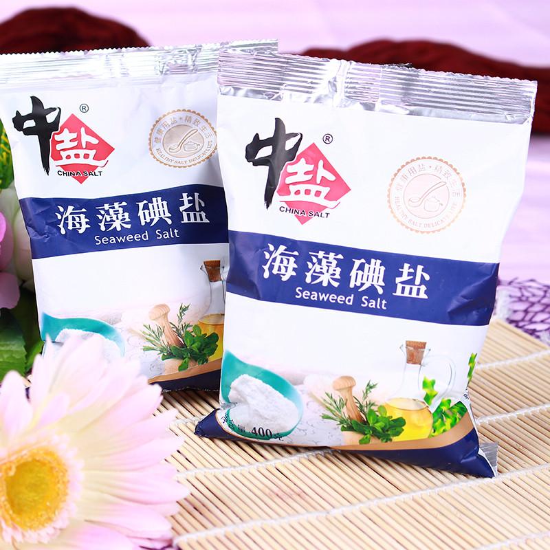 中盐海藻碘盐 400克/包【价格