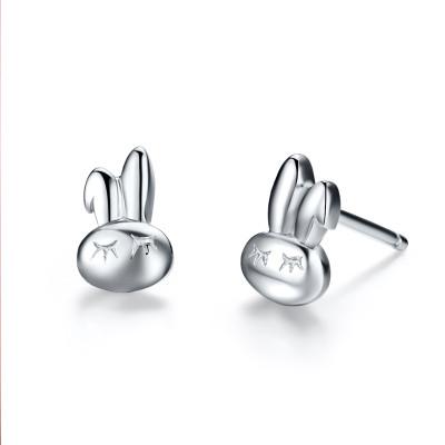 朝升银饰女款饰品可爱小兔兔耳钉时尚女耳饰礼物 商品评价(共 1人