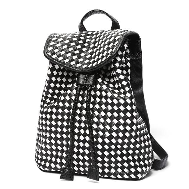 韩风手工包 2015新 编织双肩包 时尚水桶包