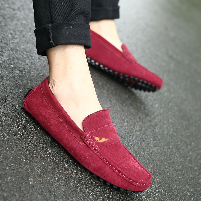 红色豆豆鞋怎么搭配袜子
