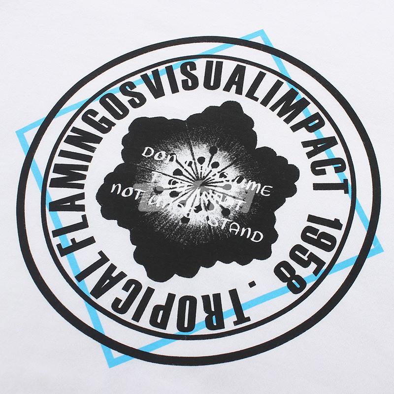 tonlion 唐狮 男圆领圆形花卉短袖t恤 616111022433