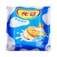 卡夫 优冠牛奶香浓夹心饼干(香浓牛奶味) 390g/包