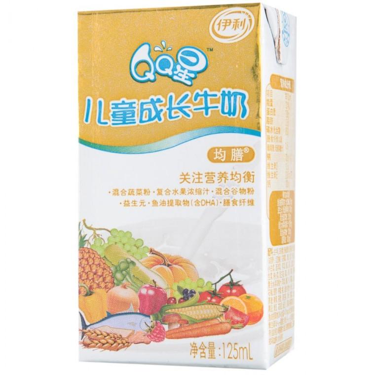 伊利qq星儿童成长牛奶营养均膳型125ml*20/提