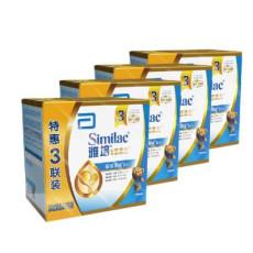 雅培(Abbott)亲体 金装喜康力幼儿配方奶粉 3段(1-3岁)1200g/盒x4