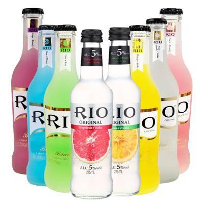 rio锐澳 鸡尾酒(预调酒) 275ml*8 瓶/组( 5度本味  经典瓶套装)怎么样图片