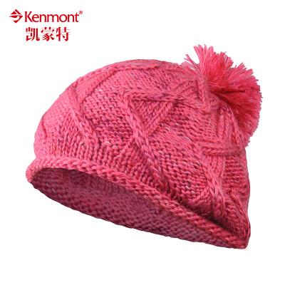kenmont秋冬手工编织粗毛线帽子女护耳针织帽韩版潮贝雷帽堆堆帽1321