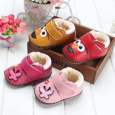 宝宝棉鞋真皮软底冬季0-1岁婴幼儿学步鞋韩版