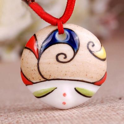 百搭陶瓷首饰 陶瓷饰品 陶瓷项链 手绘可爱娃娃头 送女友 情人节 新年