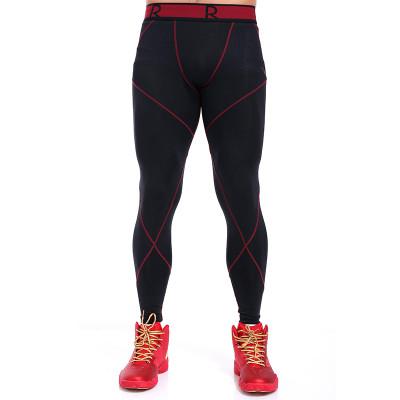 安踏男士运动紧身裤篮球打底训练裤弹力运动长