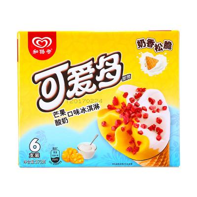 可爱多 甜筒芒果酸奶口味冰淇淋多支装 372g/盒怎么样