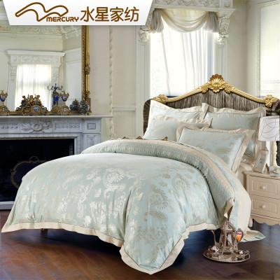 水星家纺 欧式大提花四件套 床单四件套 艾斯兰德怎么