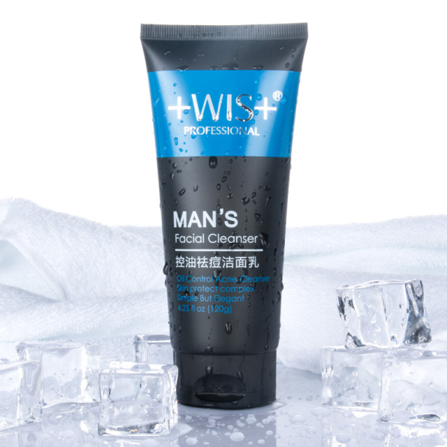 wis控油祛痘洁面乳 120g深层清洁男士洗面奶 去黑头清爽保湿
