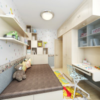 sogal索菲亚 衣柜 现代简约风格 木质榻榻米书柜顶柜儿童房整体组合图片