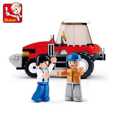 快乐小鲁班拼装积木阳光牧场系列奶牛农场塑料拼插模型儿童玩具怎么样