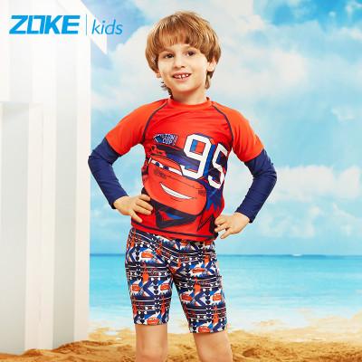洲克 新款儿童泳衣冰雪奇缘卡通版男女童分体泳衣防晒速干游泳衣沙滩