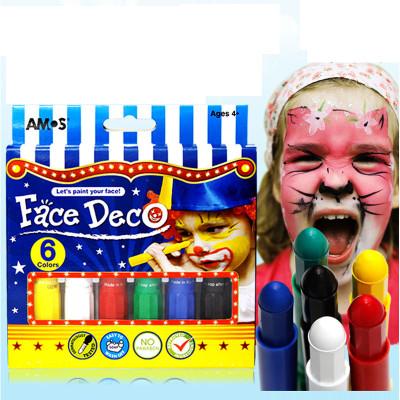 韩国amos人体彩绘笔 万圣节蜡笔 宝宝儿童画脸笔 脸部