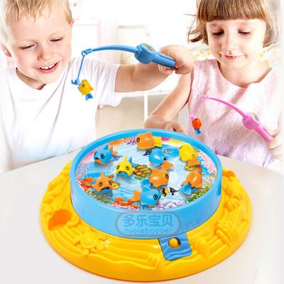 多乐宝贝儿童钓鱼玩具电动旋转磁性钓鱼台套装益智玩具怎么样 好不好