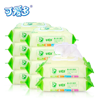 可爱多婴儿湿巾手口木糖醇无刺激湿巾80抽带盖10包怎么样 好不好