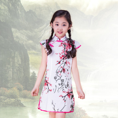 北极绒童装儿童旗袍短袖连衣裙宝宝复古唐装女童民族风旗袍裙子怎么样