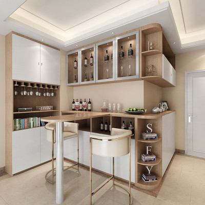 sogal索菲亚 衣柜 现代简约风格餐厅入户柜玄关柜餐酒柜吧台组合 全