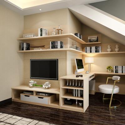 sogal索菲亚 衣柜 现代简约风格客厅转角书桌电脑桌电视柜搁板储物柜