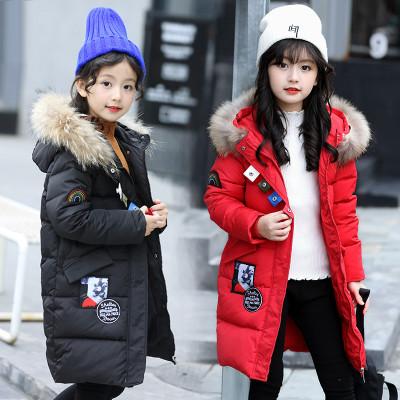 西原美女童10棉衣外套中长款儿童12童装冬装帮备皮女生图片