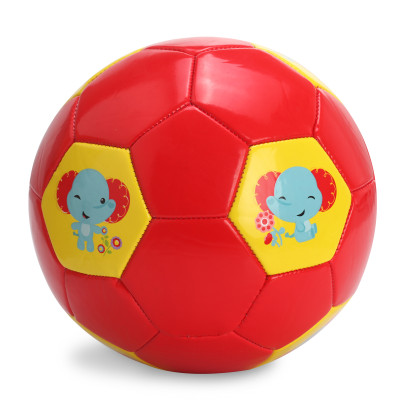 费雪 儿童足球可爱动物图案加厚耐磨宝宝皮球训练幼儿