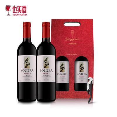 也买酒 DO等级红酒 西班牙原瓶进口索艾干红葡