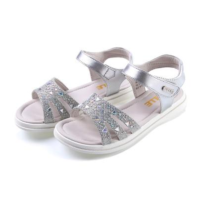 百丽儿童凉鞋女童鞋低跟学生鞋公主鞋平底鞋怎