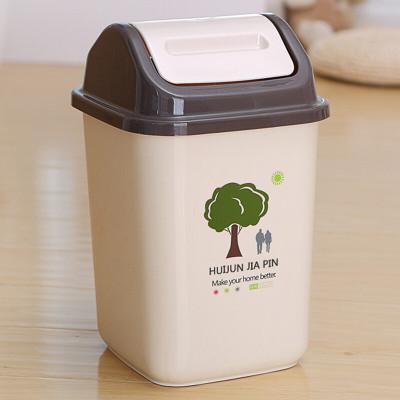 君泉 家用垃圾桶卧室客厅卫生间有盖垃圾桶大号可爱创意摇盖垃圾筒