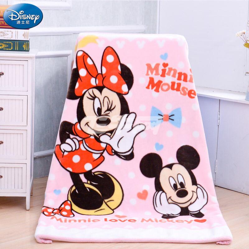 迪士尼 100*140*双层毯小熊维尼儿童云毯(黄)/米妮儿童云毯(粉)/米奇