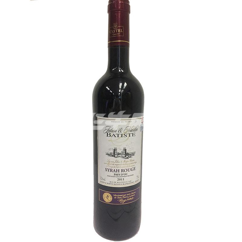 法国进口 巴蒂斯 西拉干红葡萄酒礼盒装 750ml/盒