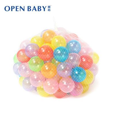 欧培 玩乐儿童益智玩具 6cm 透明海洋球波波球 水晶球