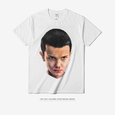 天弗兰2017春夏欧美怪奇物语科幻美剧人物eleven男式短袖t恤潮0300s17