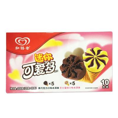 和路雪 迷你可爱多黑巧克力&芝士蛋糕口味冰淇淋 200克/盒怎么样 好不