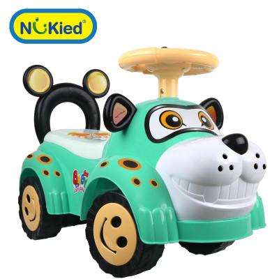 纽奇 儿童扭扭车带音乐静音轮宝宝滑行玩具扭扭车摇摆