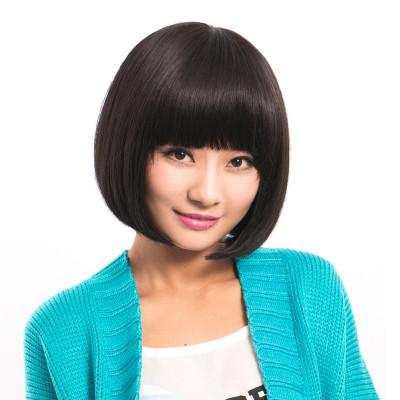 美元素假发 女 气质型波波头真发假发 甜美可爱短发型