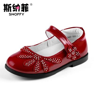 斯纳菲女童鞋2016春秋季新款儿童皮鞋真皮公