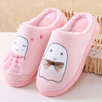 乐拖棉拖鞋女冬季娃娃棉卡通可爱男情侣冬季厚底保暖毛绒木地板防滑棉