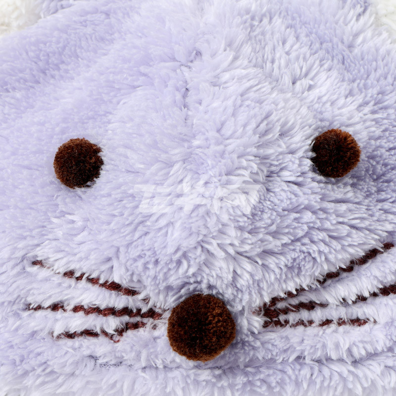麦拉贝拉 宝宝秋冬保暖珊瑚绒立体可爱小动物毛绒帽 mz64001 咖啡色 m