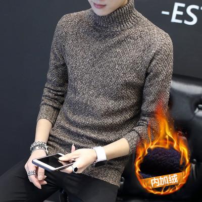 哈柏王男士高领毛衣男加绒加厚冬季韩版潮流针
