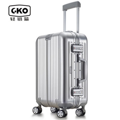 gko铝镁合金拉杆箱托运箱旅行箱行李箱万向轮28寸银色