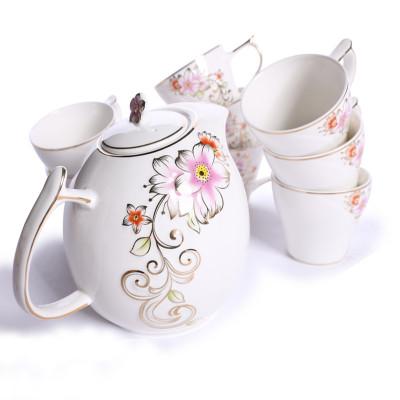 欧式陶瓷浮雕咖啡具套装茶具水具茶水杯凉