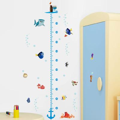 迪士尼 海底总动员身高贴 卧室儿童房幼儿园教卡通装饰墙贴画fn005a
