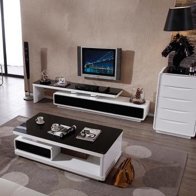 诗敏 现代简约时尚钢化玻璃茶几电视柜组合钢琴烤漆怎么样 好不好